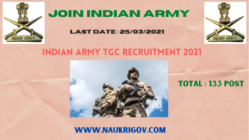 Indian Army TGC-133 Recruitment 2021